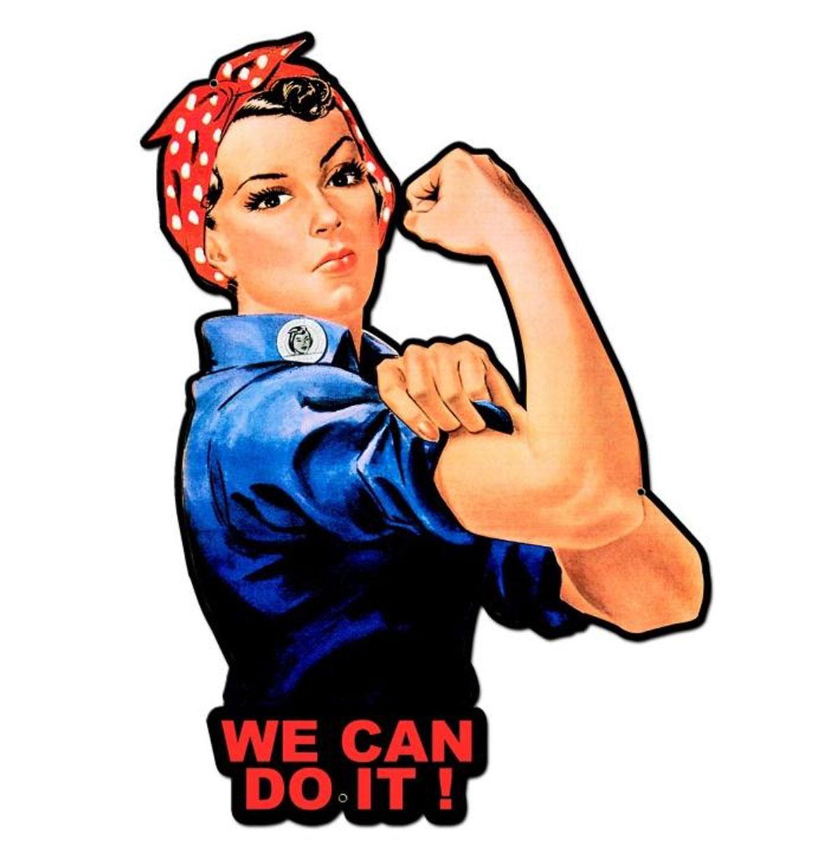 Rosie The Riveter We Can Do It Zwaar metalen Bord