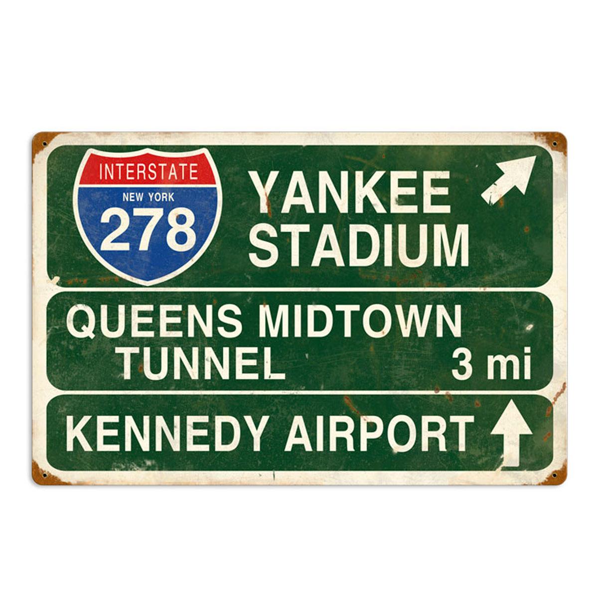 New York Yankee Stadium Interstate Zwaar Metalen Bord