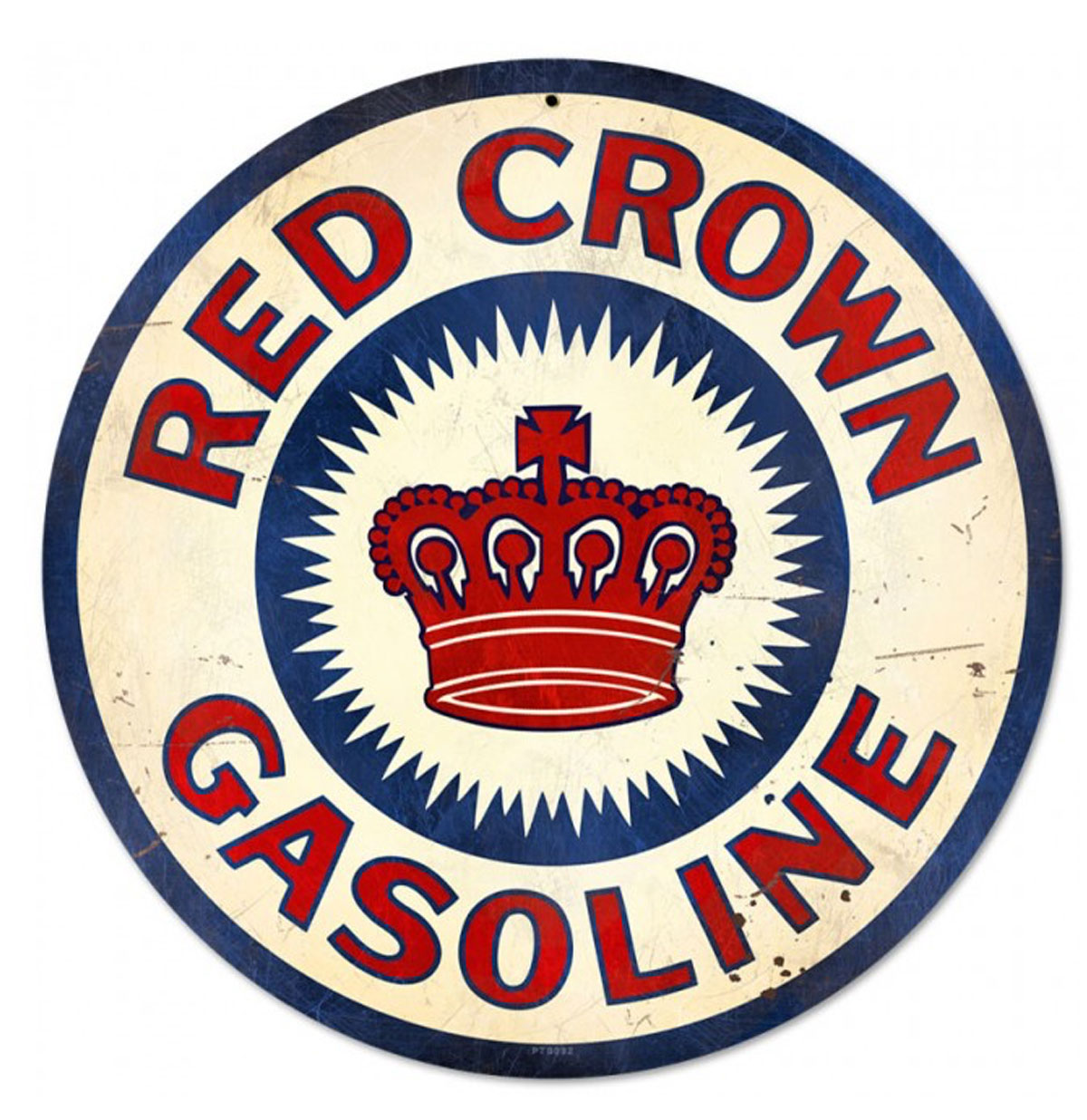 Red Crown Gasoline Zwaar Metalen Bord