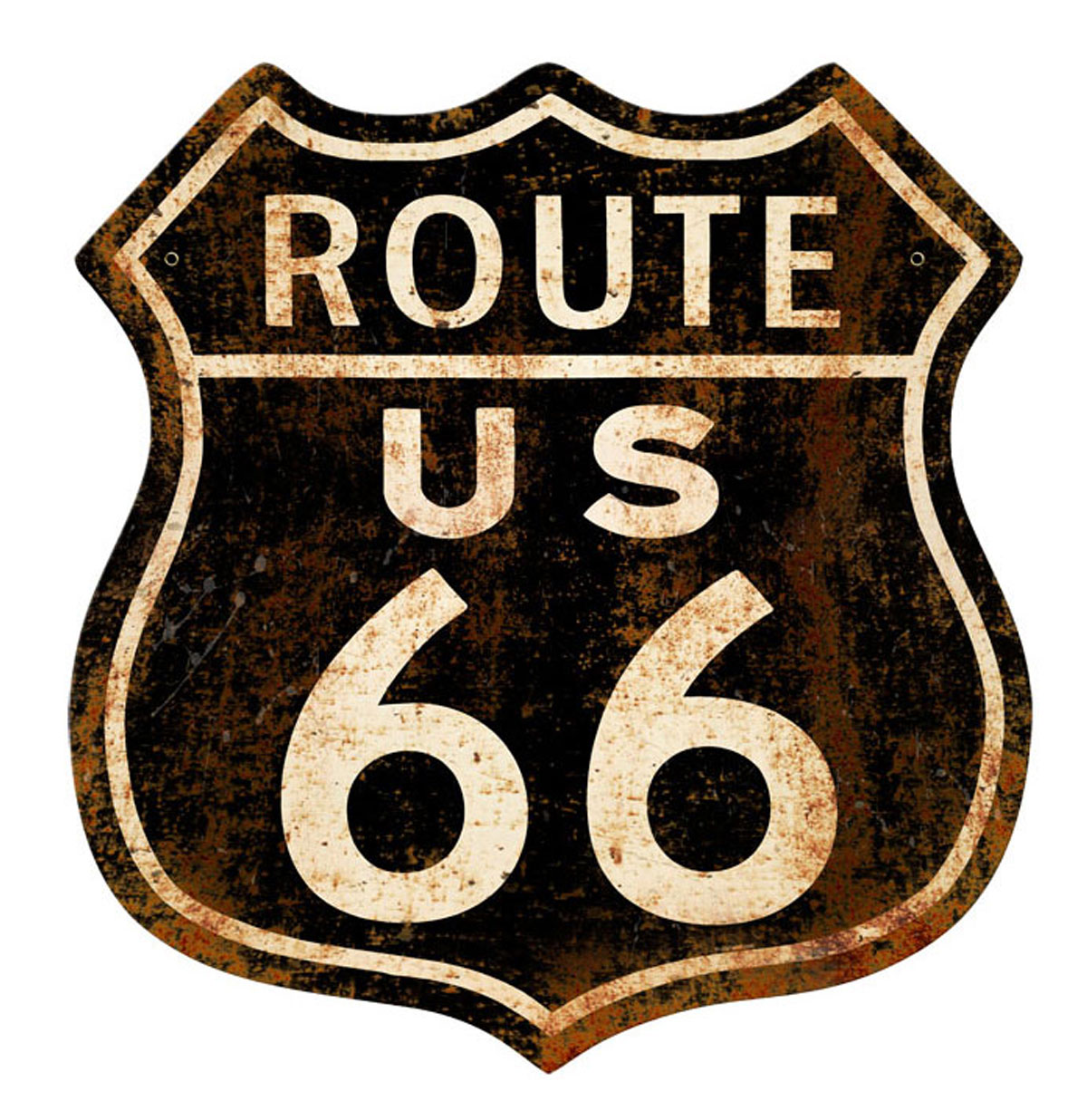 Route 66 Rusty Zwaar Metalen Bord