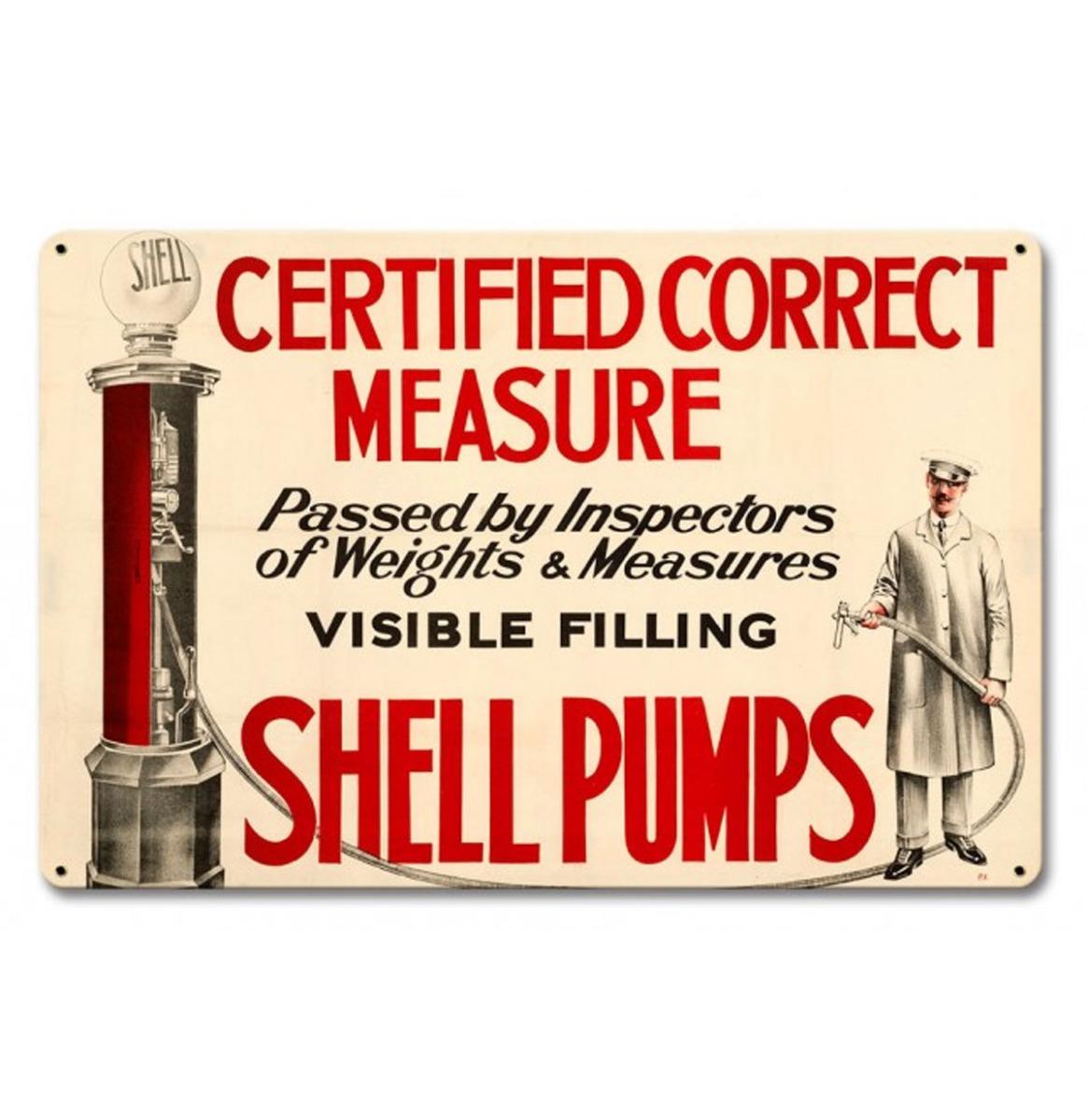 Certified Correct Shell Pumps Zwaar Metalen Bord Sign 45 x 30 cm