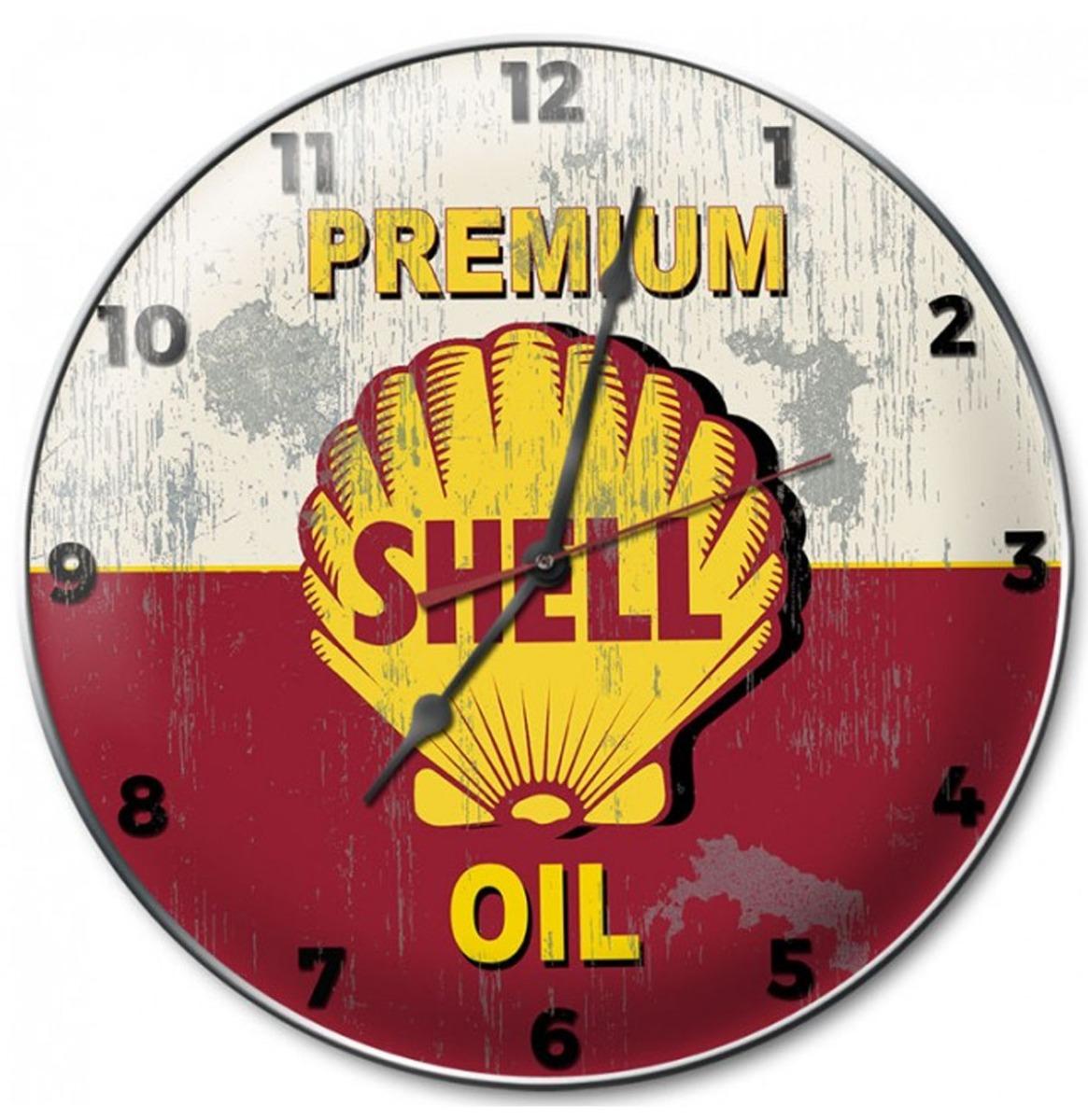 Shell Premium Oil Wall Clock 36 cm