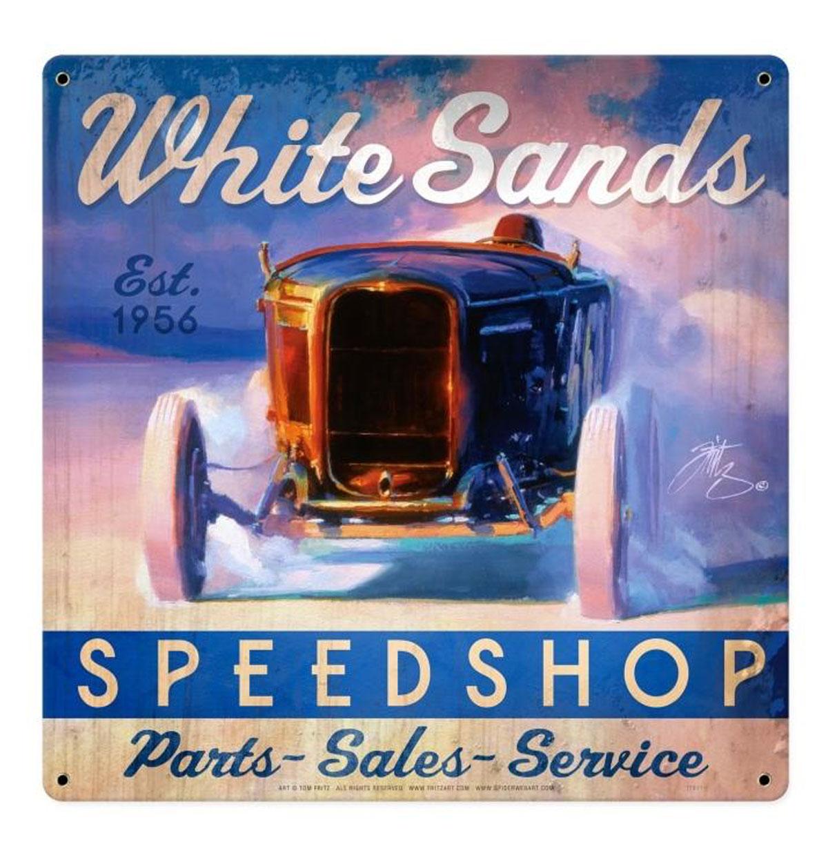 White Sands Speed Shop Zwaar Metalen Bord