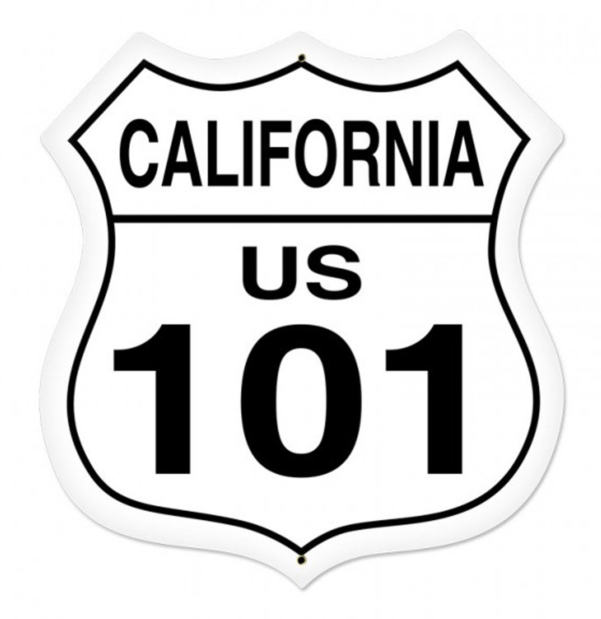 California Route 101 Zwaar Metalen Bord 70 x 70 cm