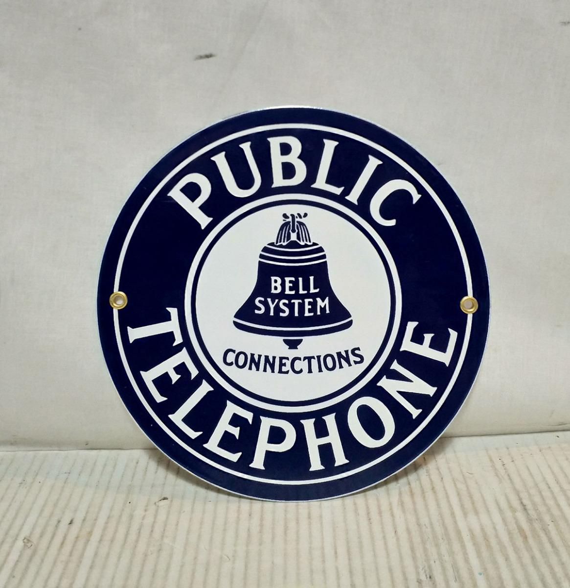 Public Telephone Emaille Bord