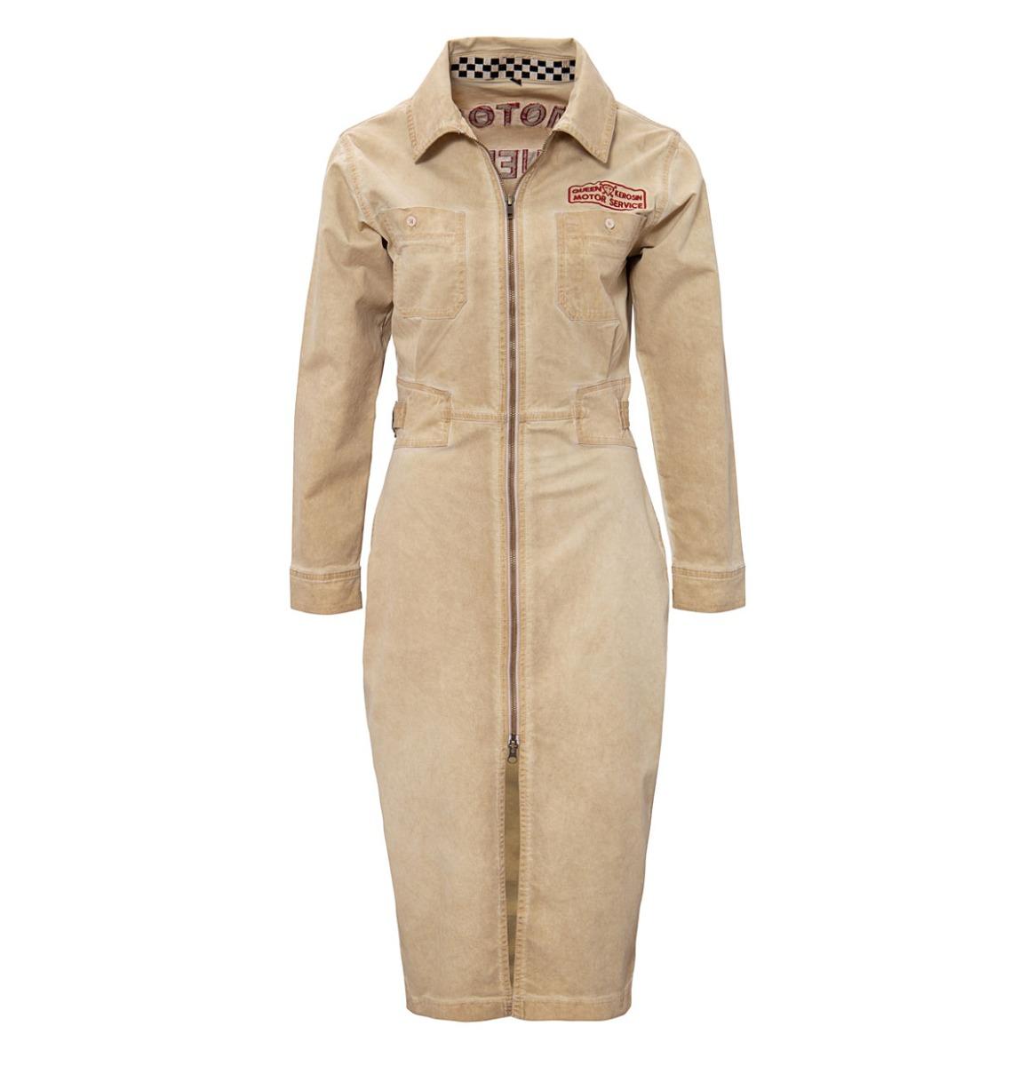 Queen Kerosin Workwear Jurk Motor Service Beige