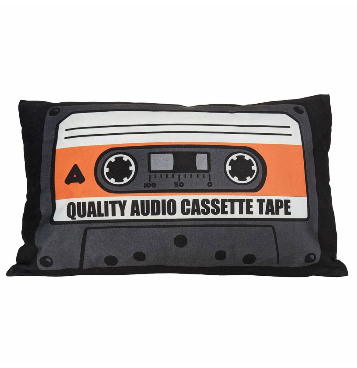 Quality Audio Cassette Oranje Fluwelen Kussen