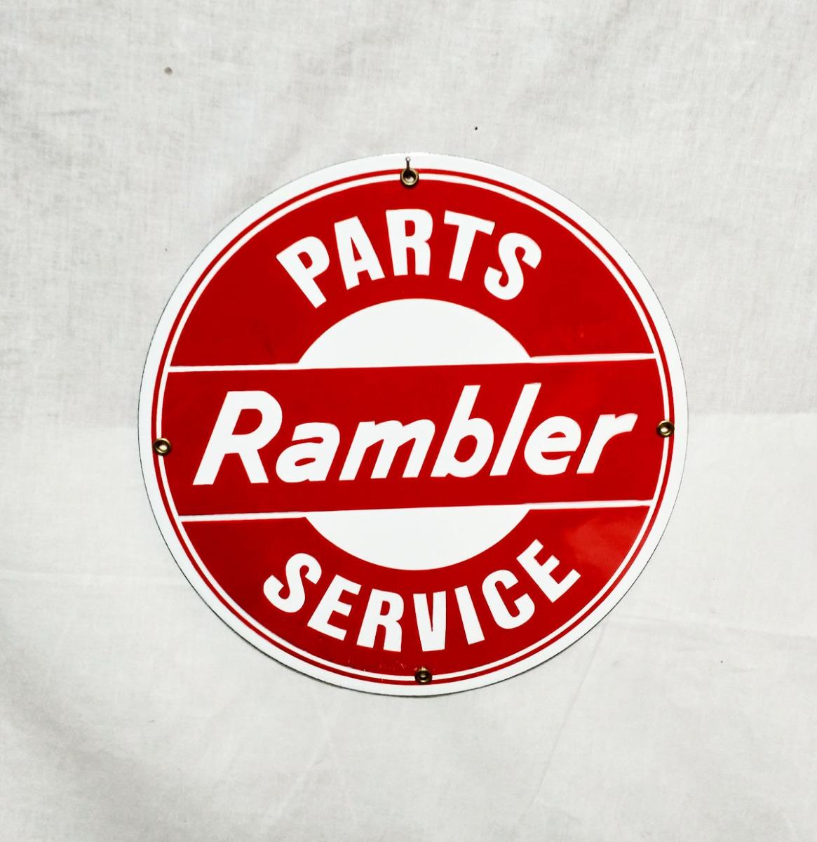 Rambler Service Parts Emaille Bord 30 cm