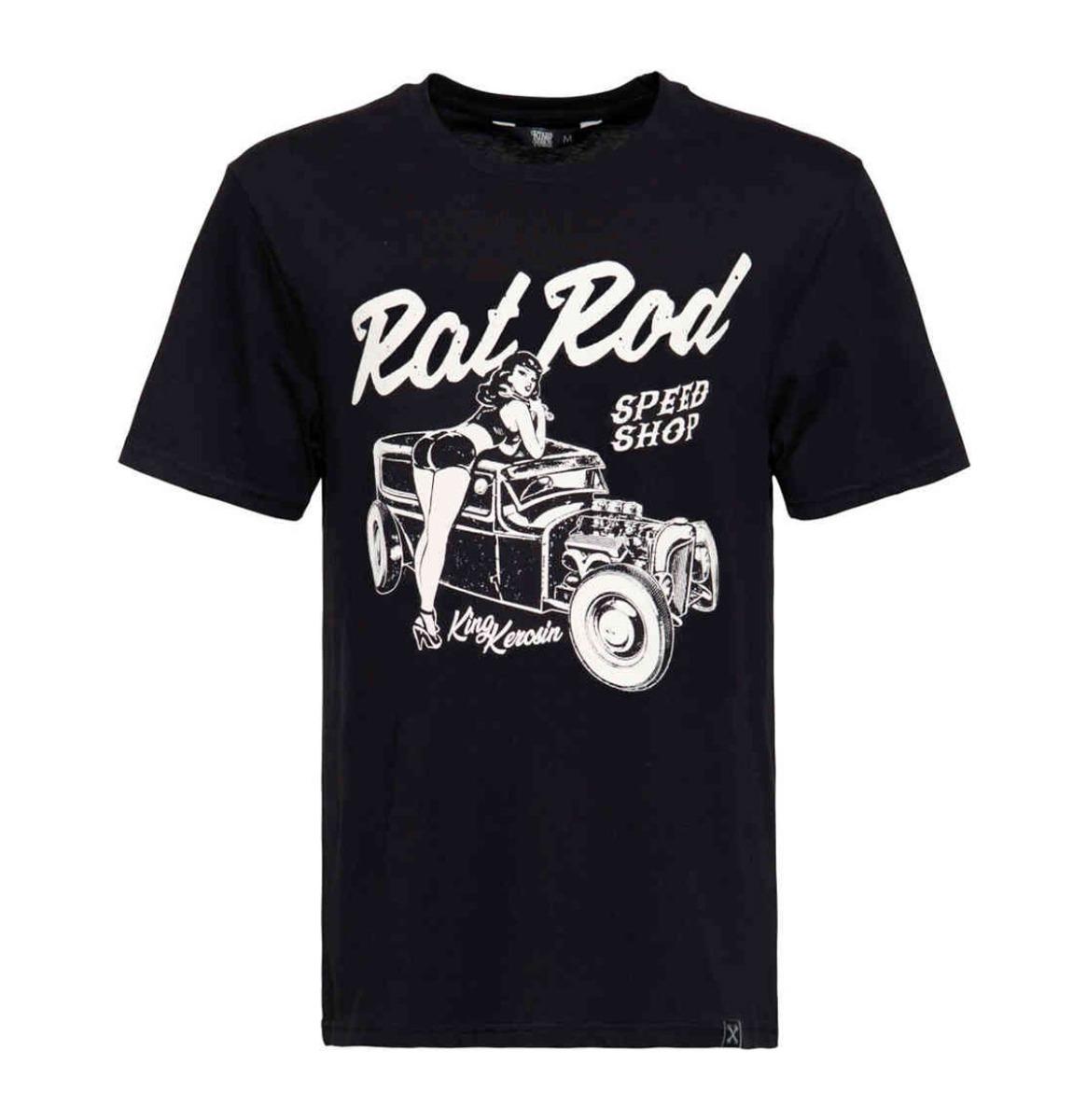 King Kerosin Rat Rod Roadrunner Shirt Zwart