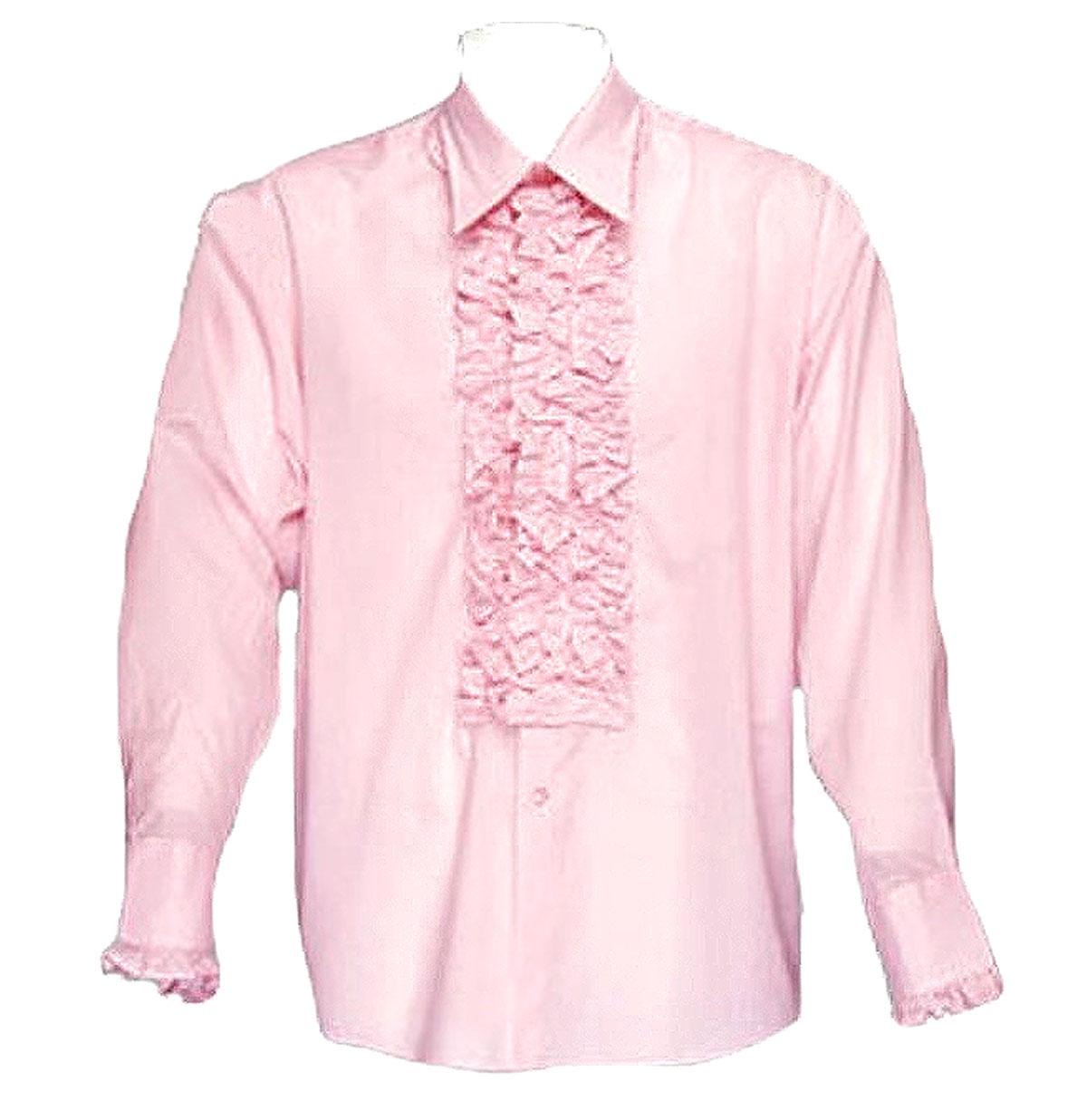 Retro Ruffled Shirt Roze