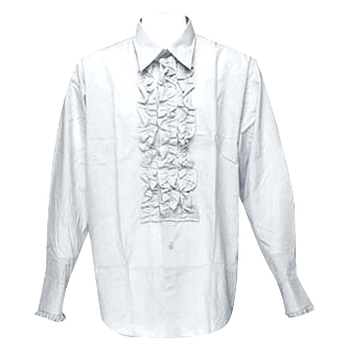 Retro Ruffled Shirt Wit
