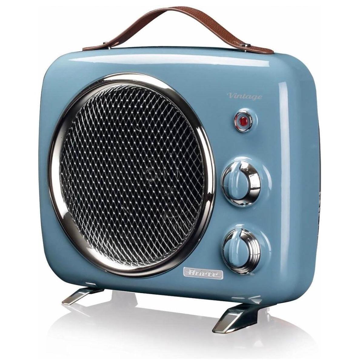 Ariete Vintage Draagbare Mini Heater en Ventilator - Blauw
