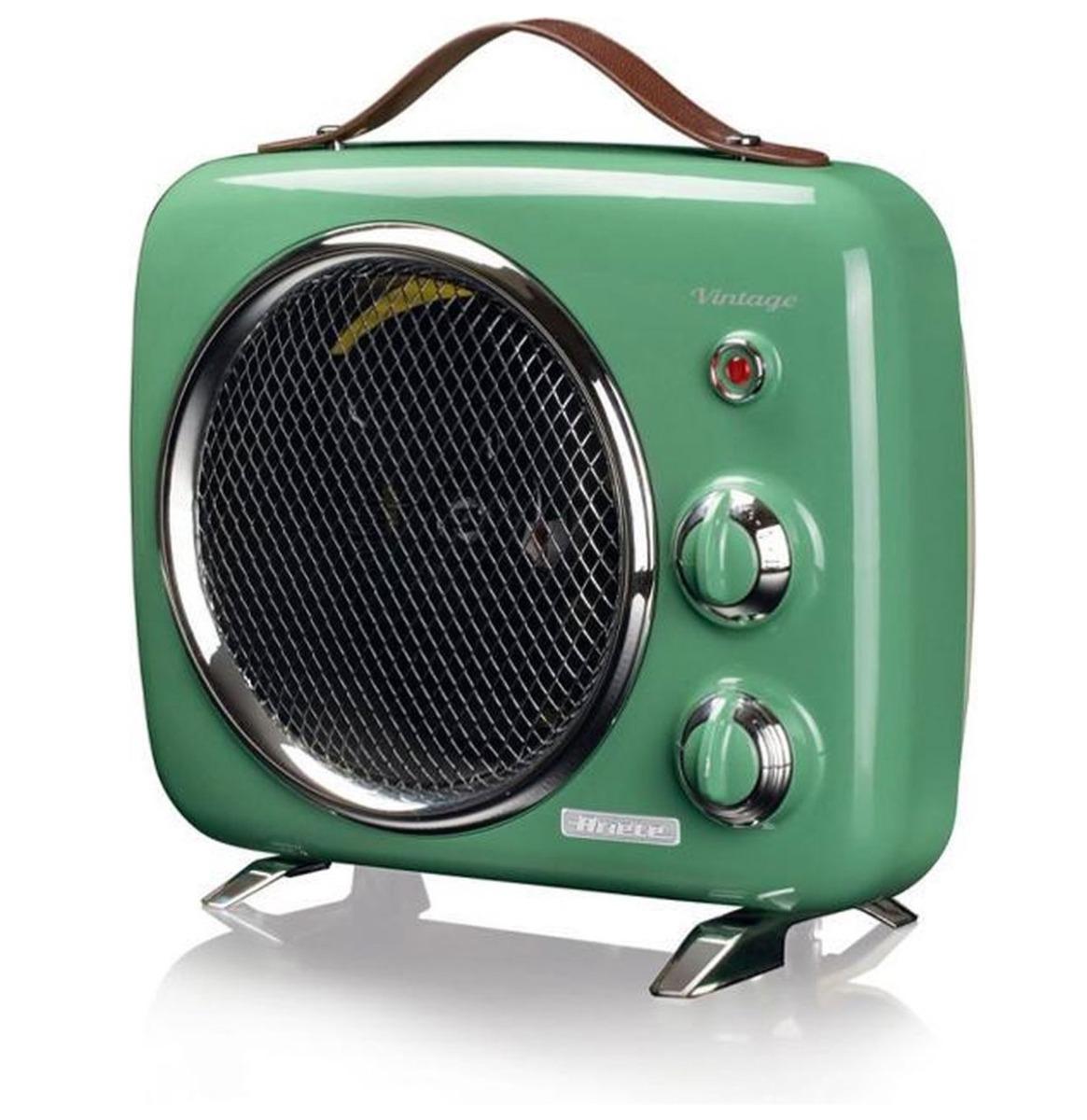 Ariete Vintage Draagbare Mini Heater en Ventilator - Groen