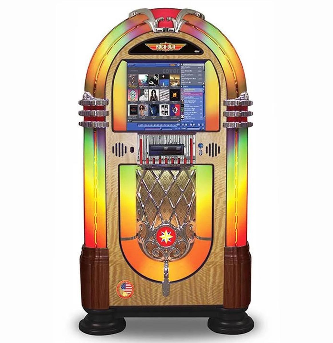 Rock-Ola Bubbler Digital Music Center Jukebox - Walnoot