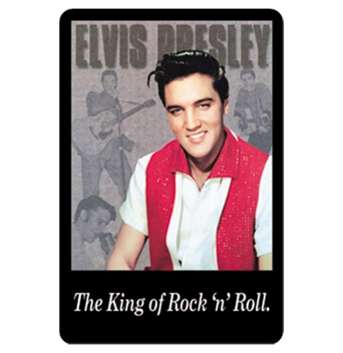 Fiftiesstore The King Of Rock N Roll Elvis Presley Metalen Bord 20 x 30 cm