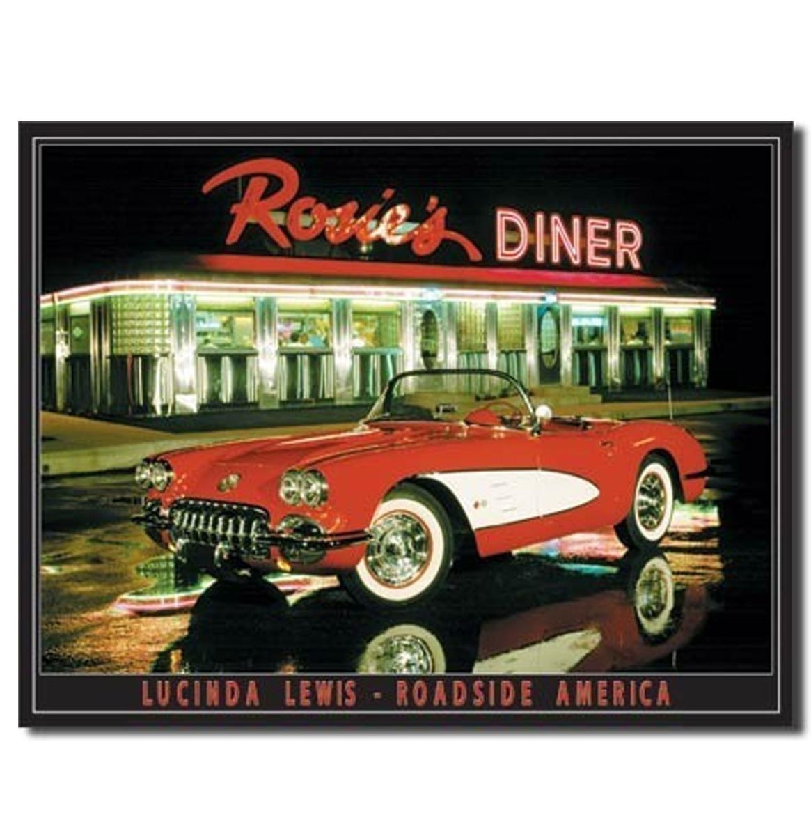 Rosie's Diner Metalen Bord - 8 x 11 cm