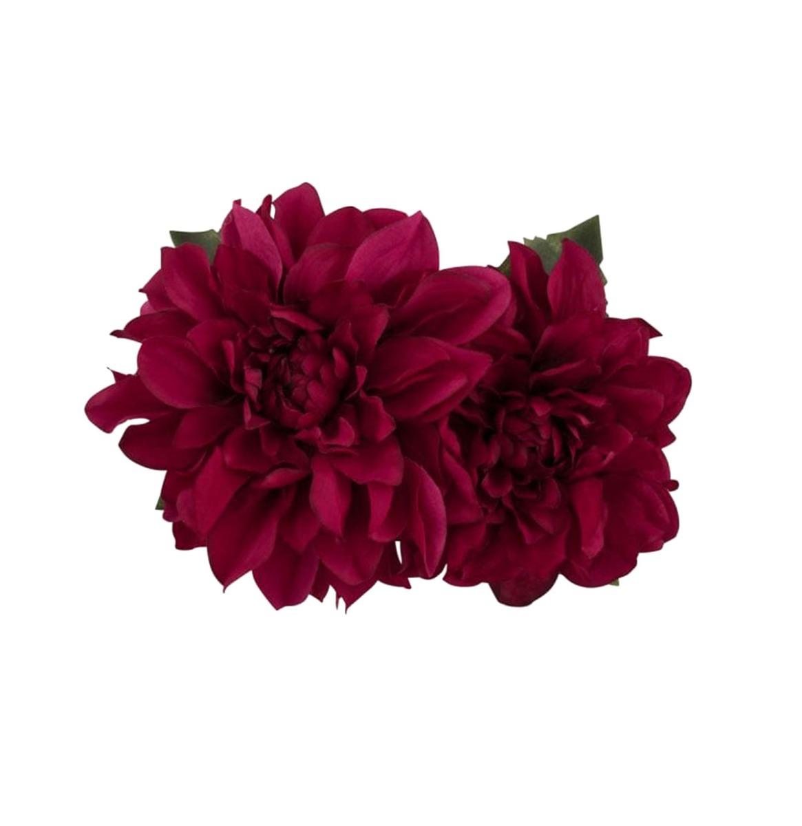 Samantha Hair Flower Donker Roze