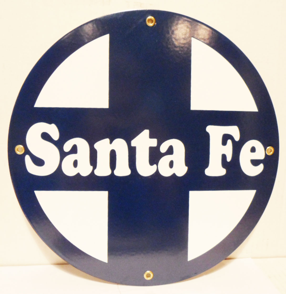 Santa Fe Emaille Logo Bord
