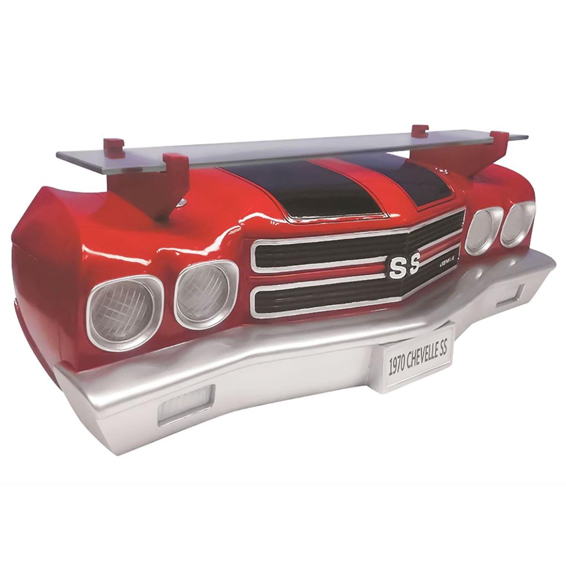 1970 Chevrolet Chevelle SS Neus Als Muurplank Rood - Zwart