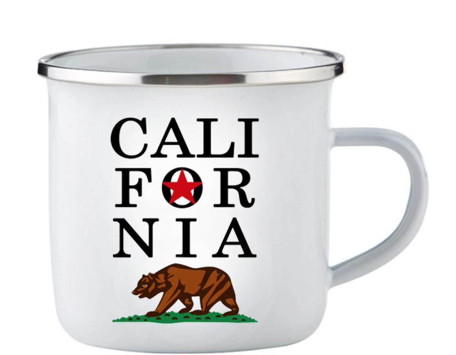 Emaille Mok California Beer Logo