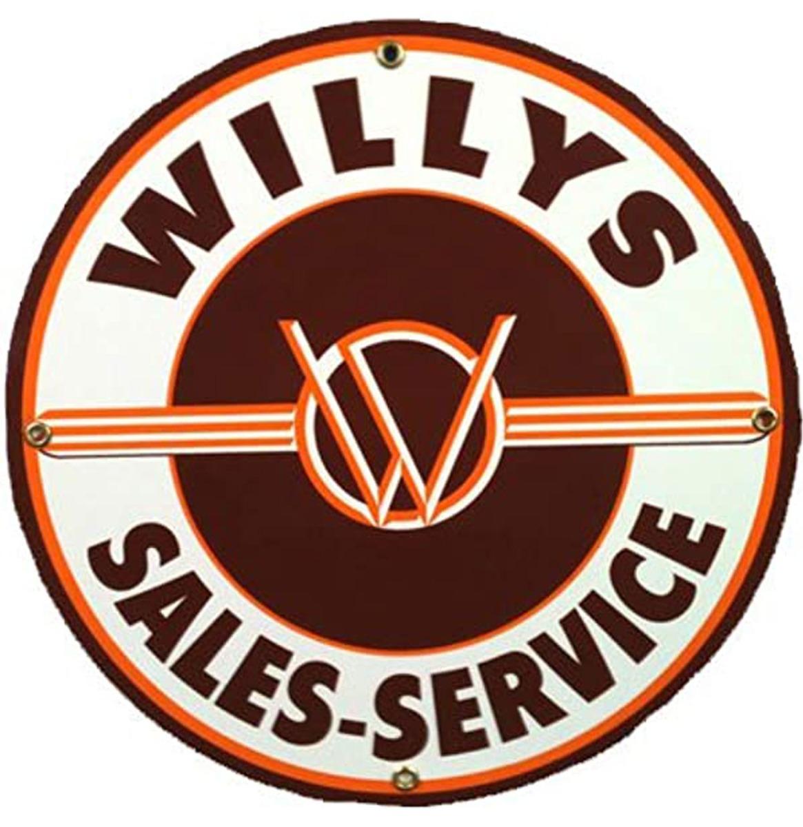 Willy's Sales-Service Metalen Bord 60 cm
