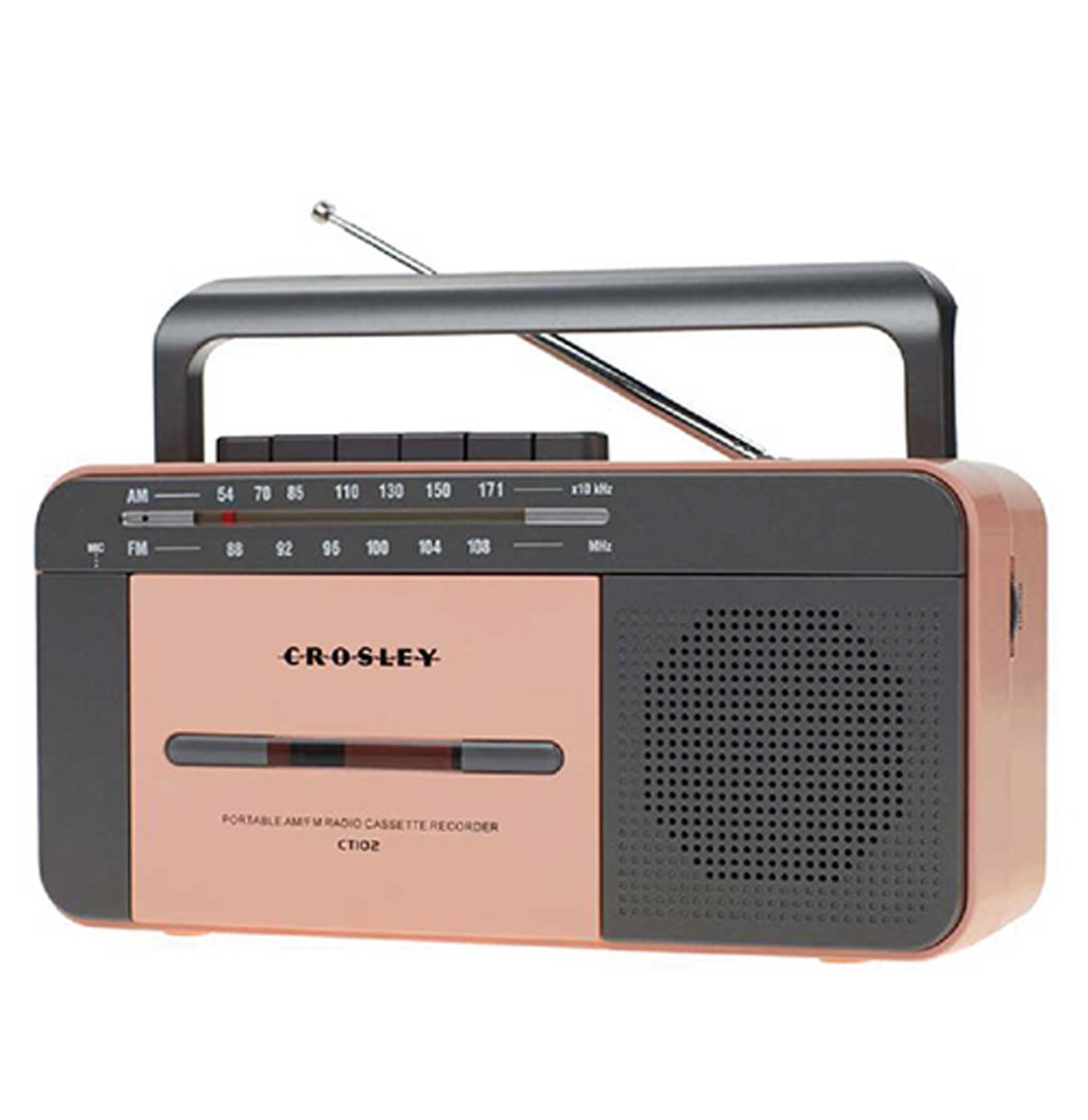 Crosley Draagbare Cassette Speler - Rose Goud/Grijs