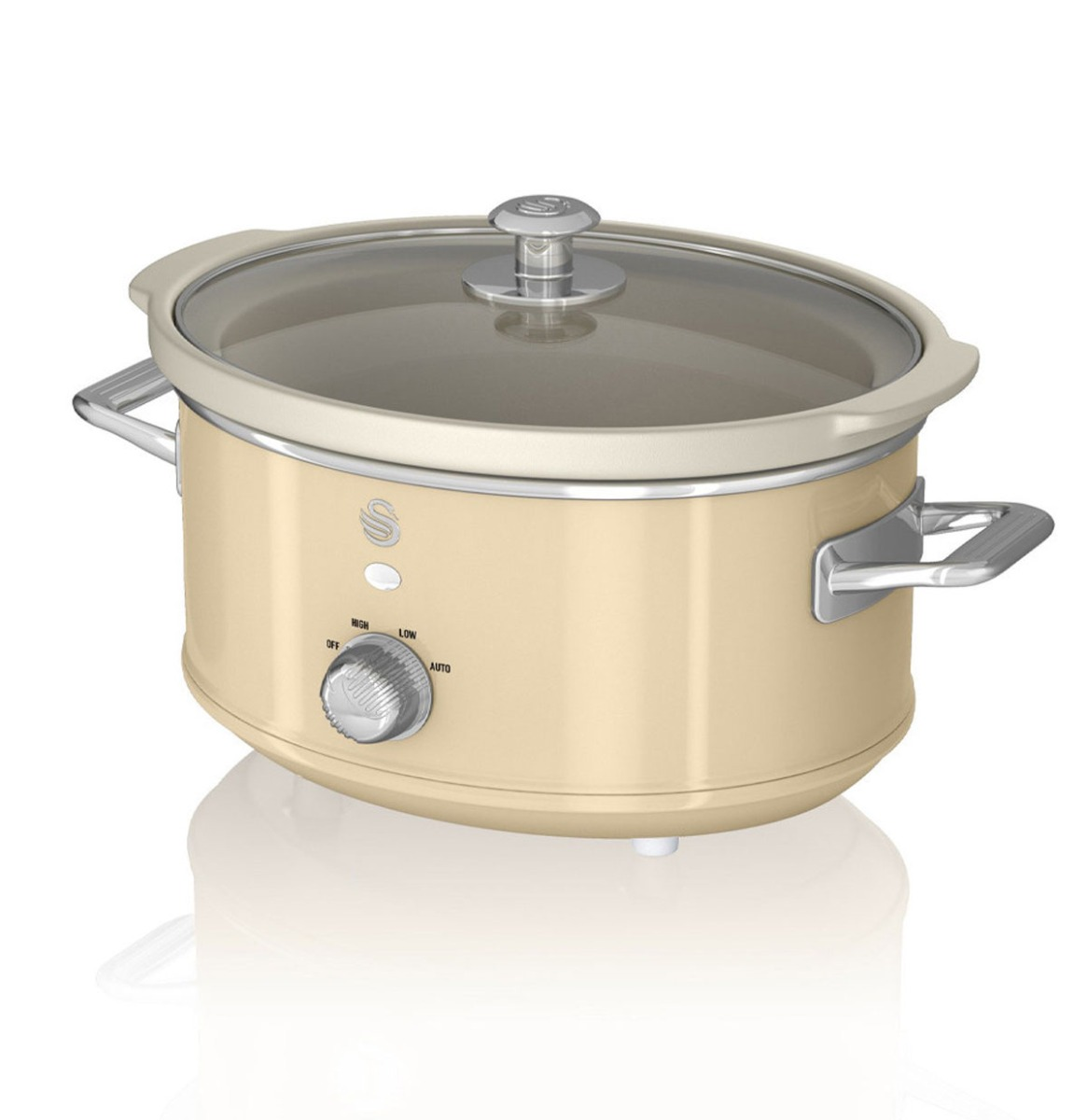 Swan Retro Slow Cooker - 3.5 Liter - Cr�me