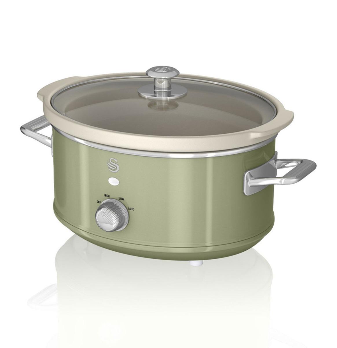 Swan Retro Slow Cooker - 3.5 Liter - Groen