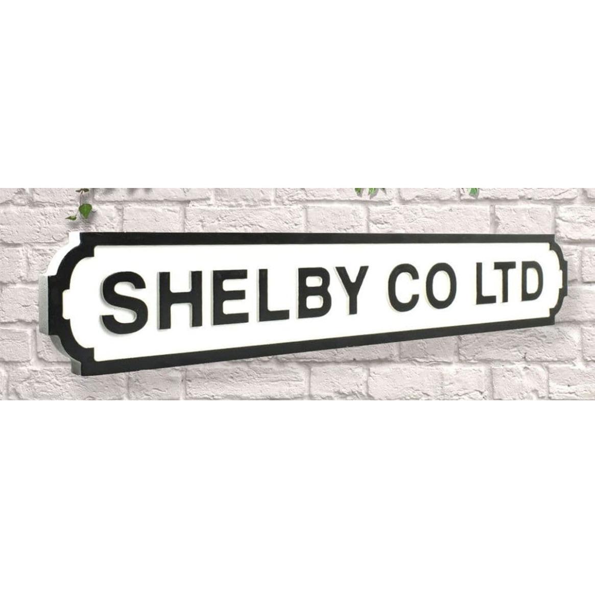 Shelby Company LTD Straatbord 80 x 14 cm