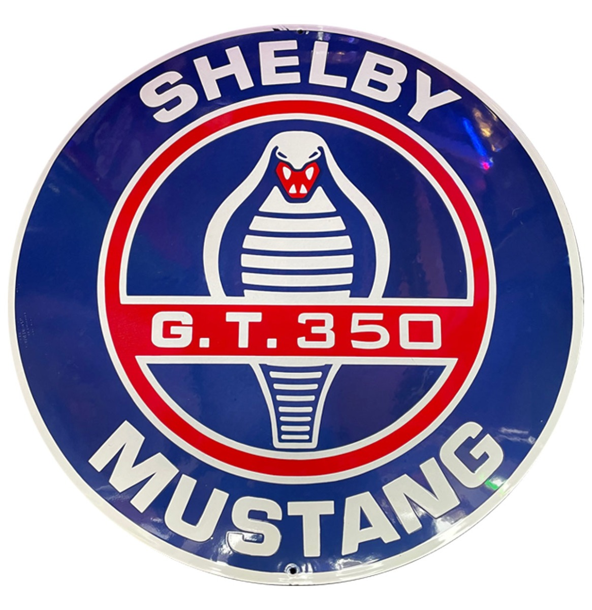 Shelby Mustang G.T. 350 Emaille Bord - 60 cm ø
