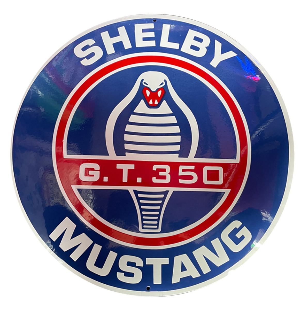 Shelby Mustang G.T. 350 Emaille Bord - 50 cm ø