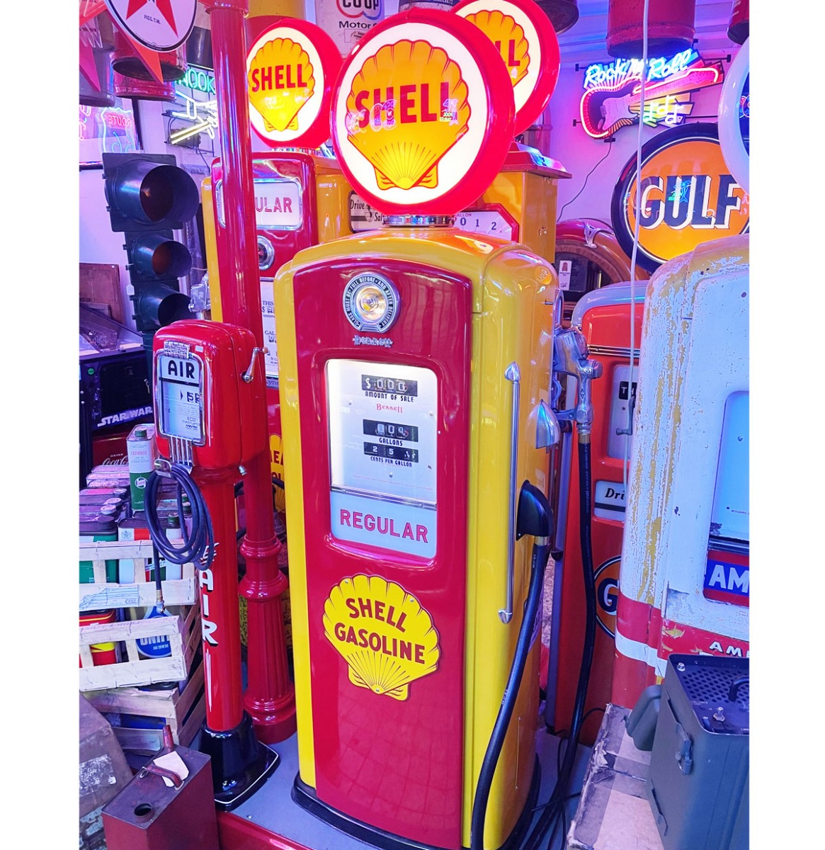 Bennett 746 (1948-1949) Shell Benzinepomp Origineel - Gerestaureerd
