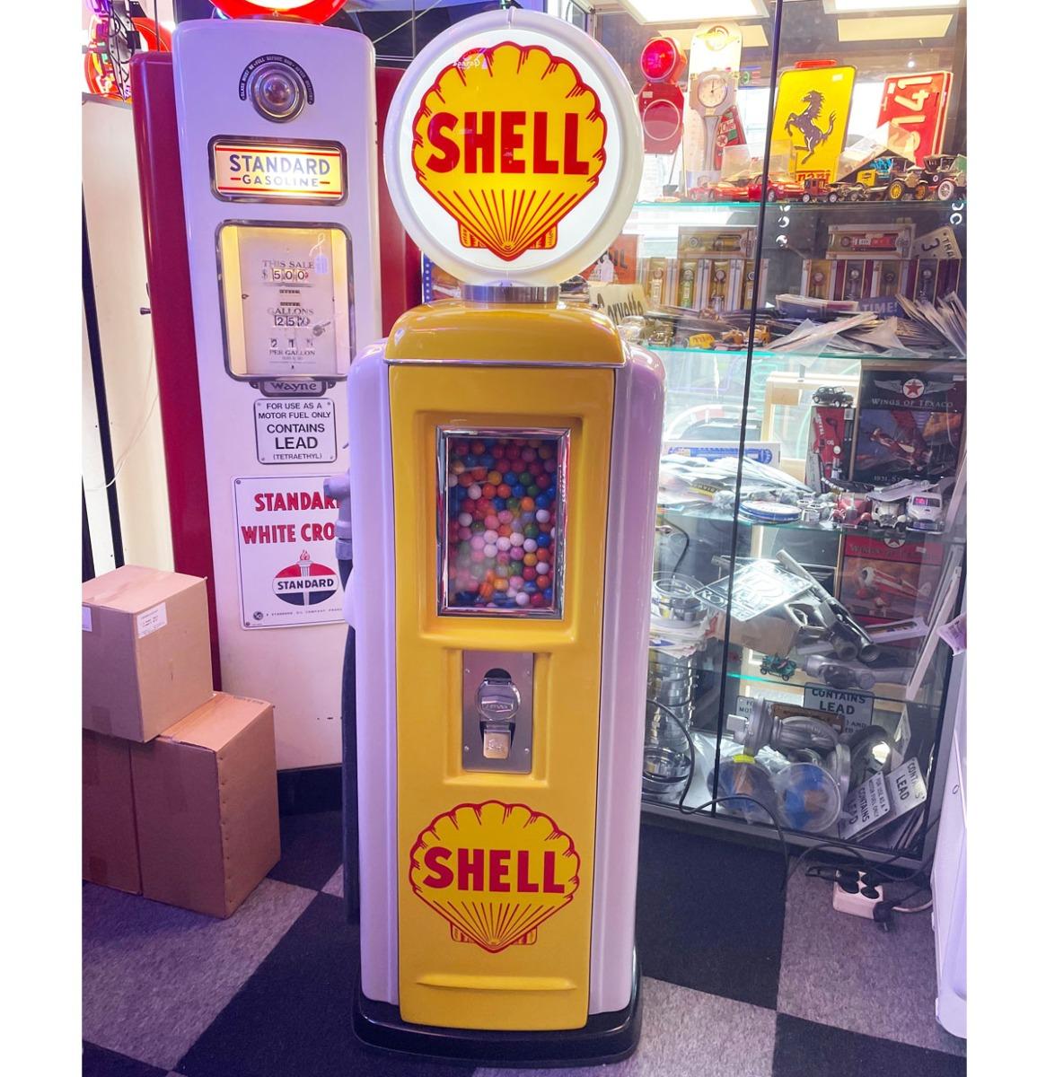 Tokheim 39 Benzinepomp Kauwgomballen Automaat Shell 0,20 Eurocent