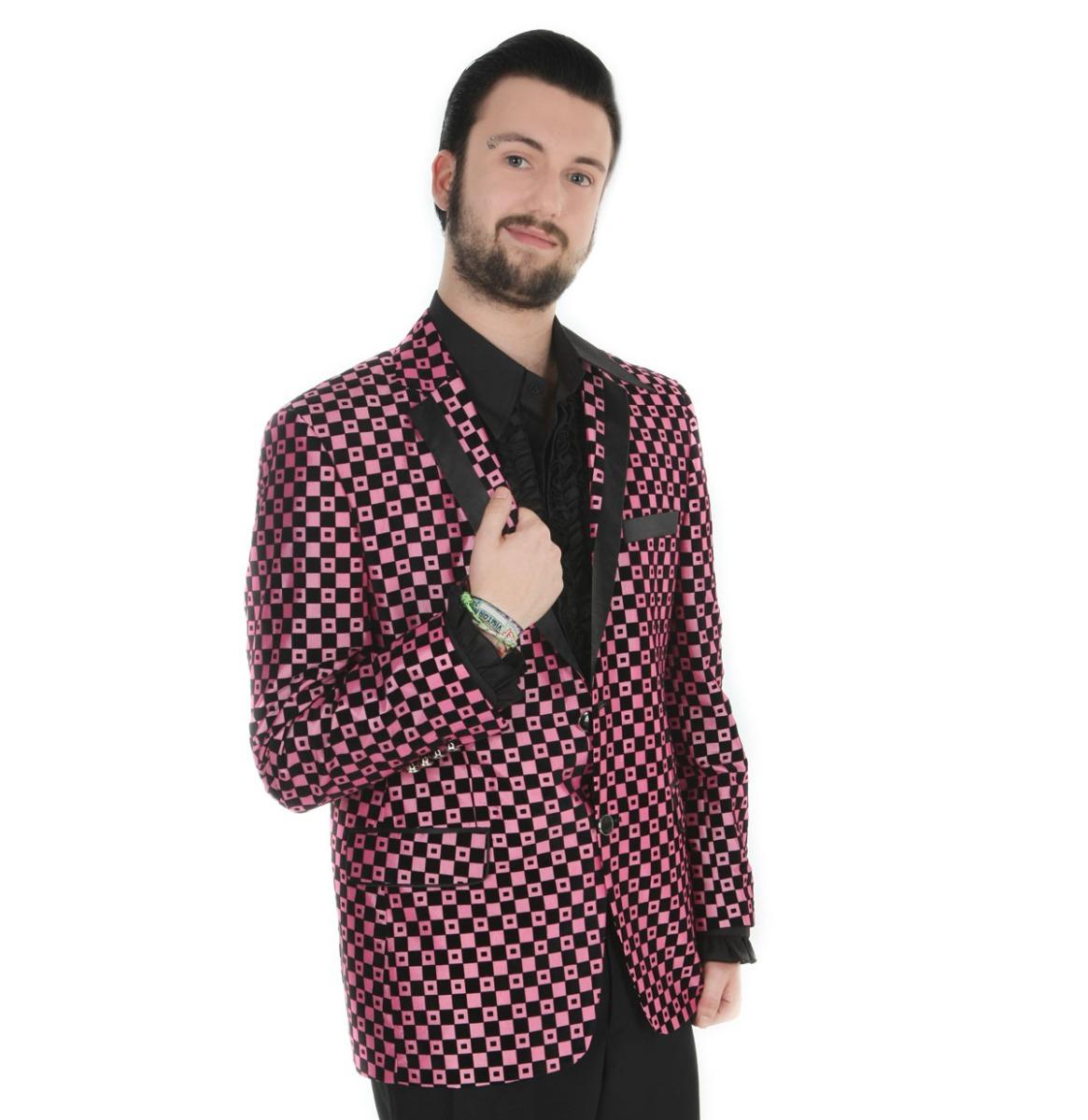 Show Jacket Pink Checker Spots