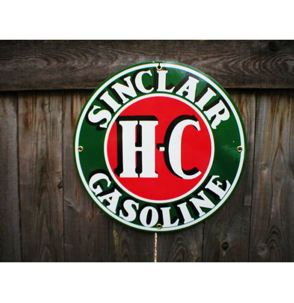Sinclair HC Gasoline Emaille Bord