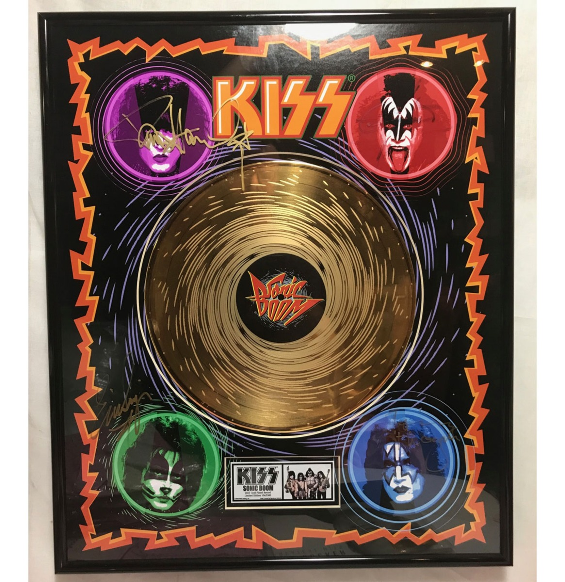 Kiss - Sonic Boom Limited Edition Etched Gouden Plaat Kiss Catalogue official - Gesigneerd