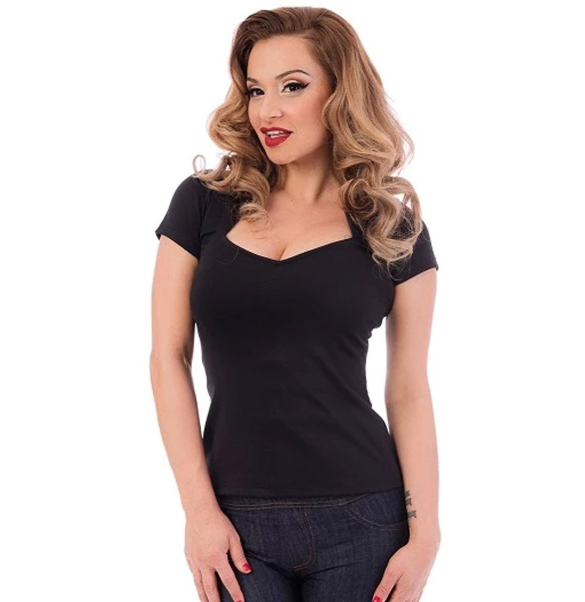 Steady Clothing Sophia Top Effen Zwart