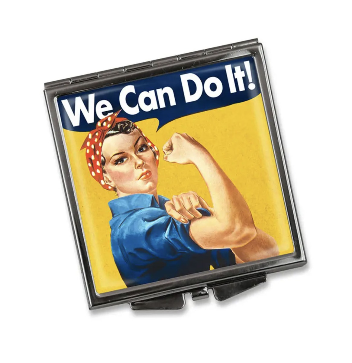 Vierkant Compact Spiegel - We Can Do It