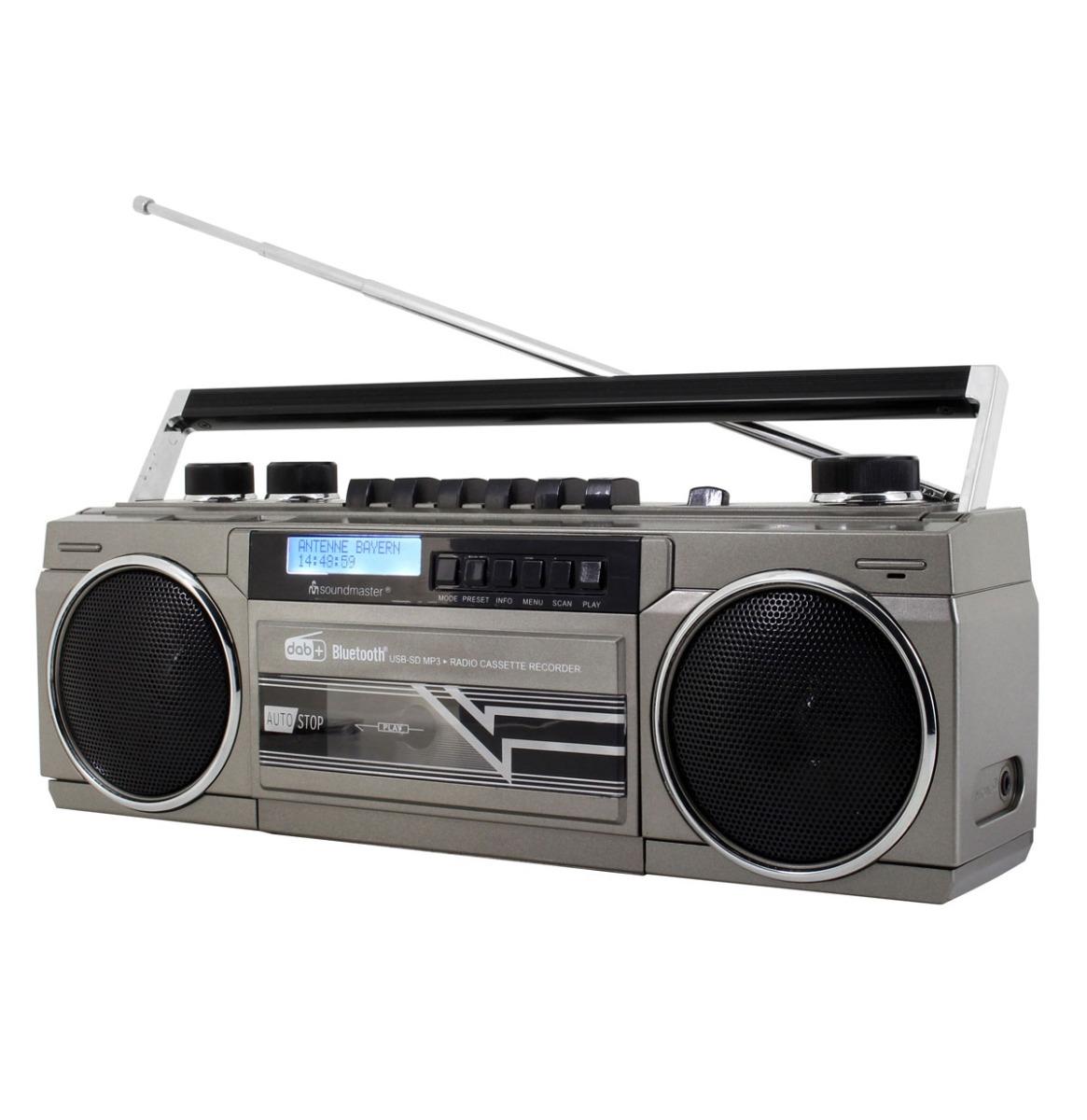 Soundmaster SRR70TI DAB+ Boombox Stereo Cassette Speler
