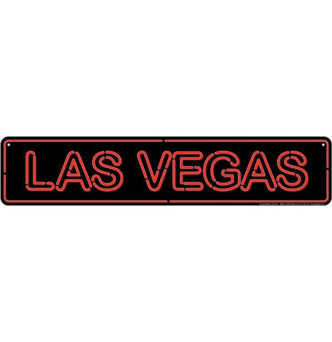Neon Las Vegas Aluminium Bord 61 x 12,5 cm
