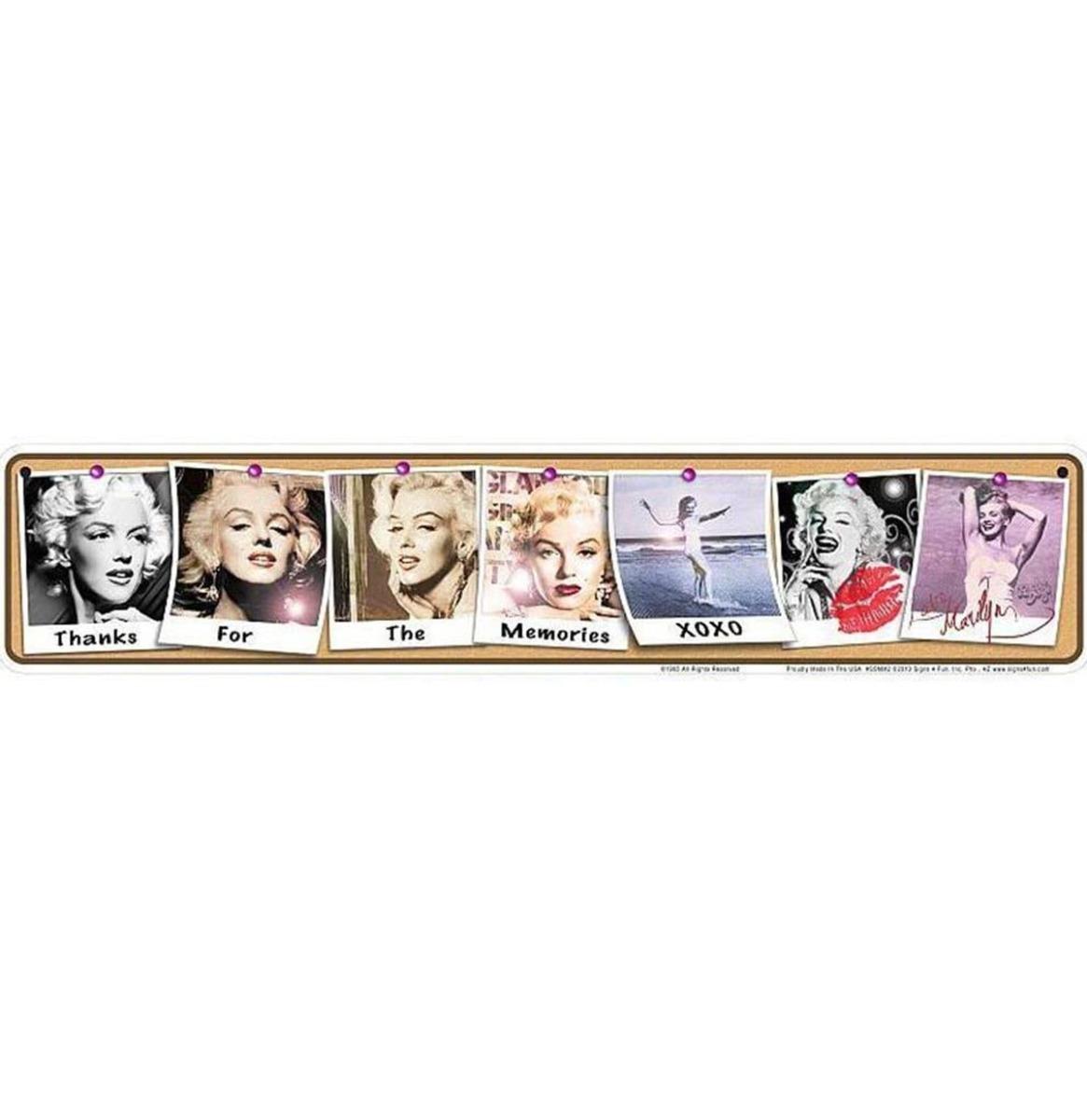 Marilyn Monroe Memories Aluminium Bord 61 x 12,5 cm