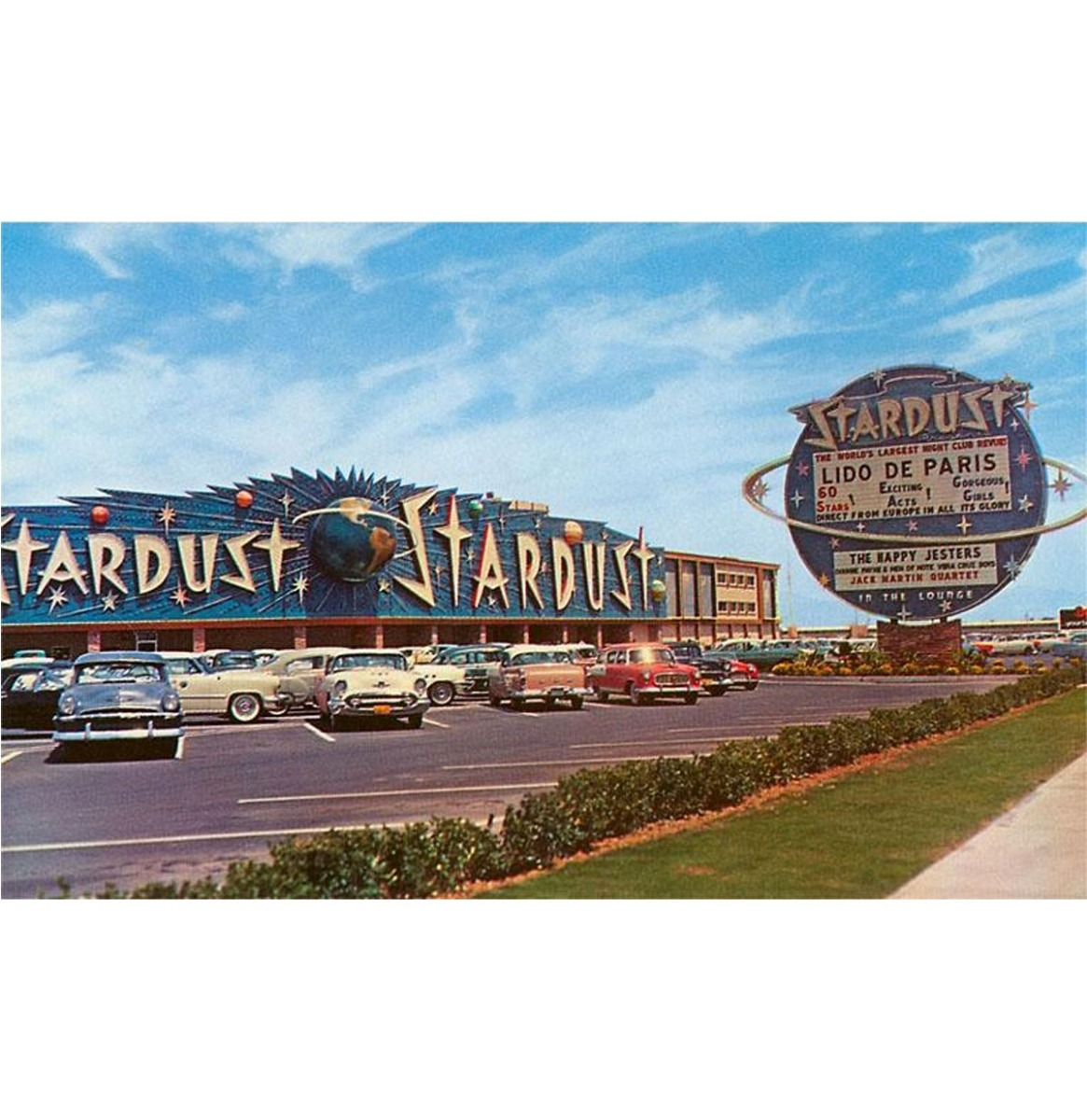 Stardust Hotel, Las Vegas, Nevada - Vintage Foto, Kunst Afdruk