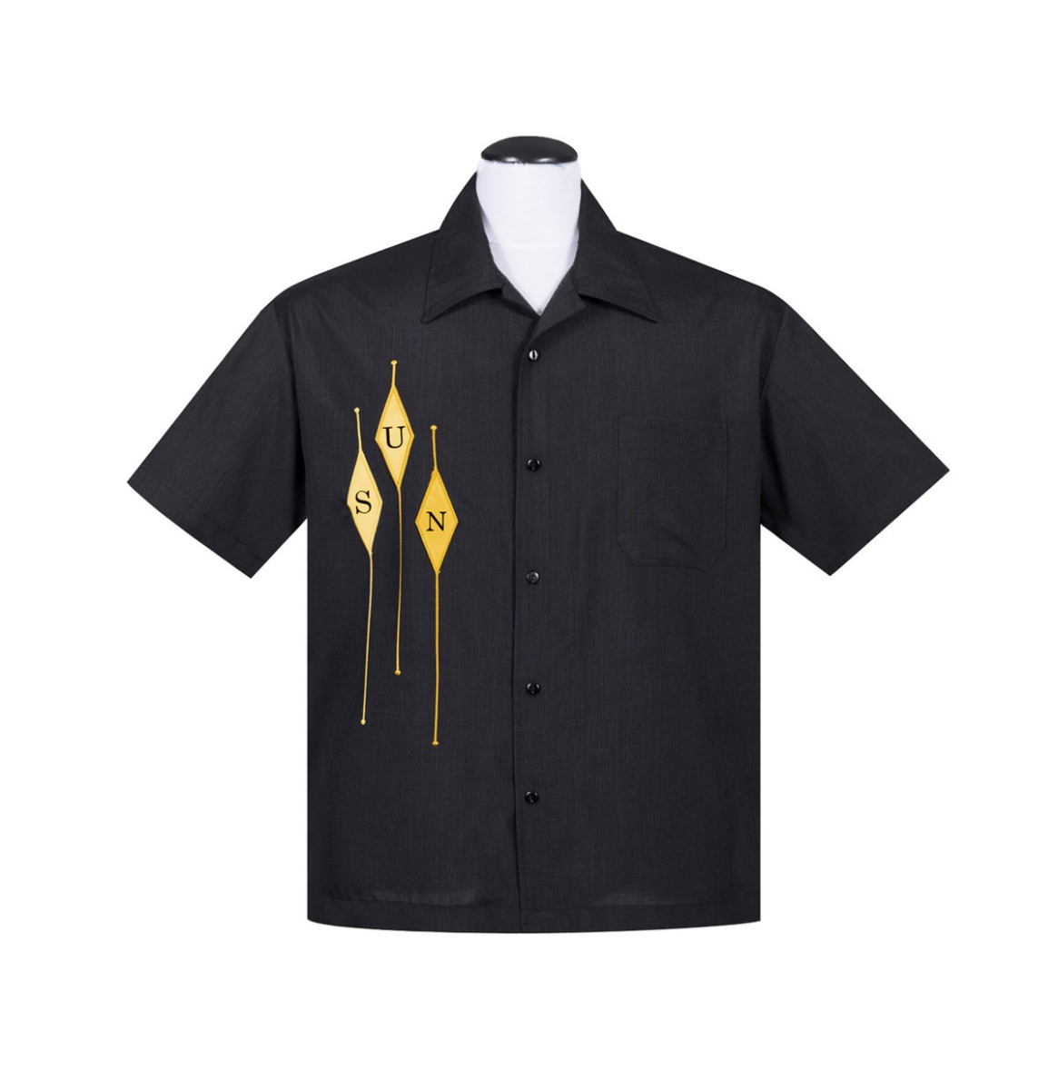 Sun Records Diamond Notes Classic Shirt Zwart