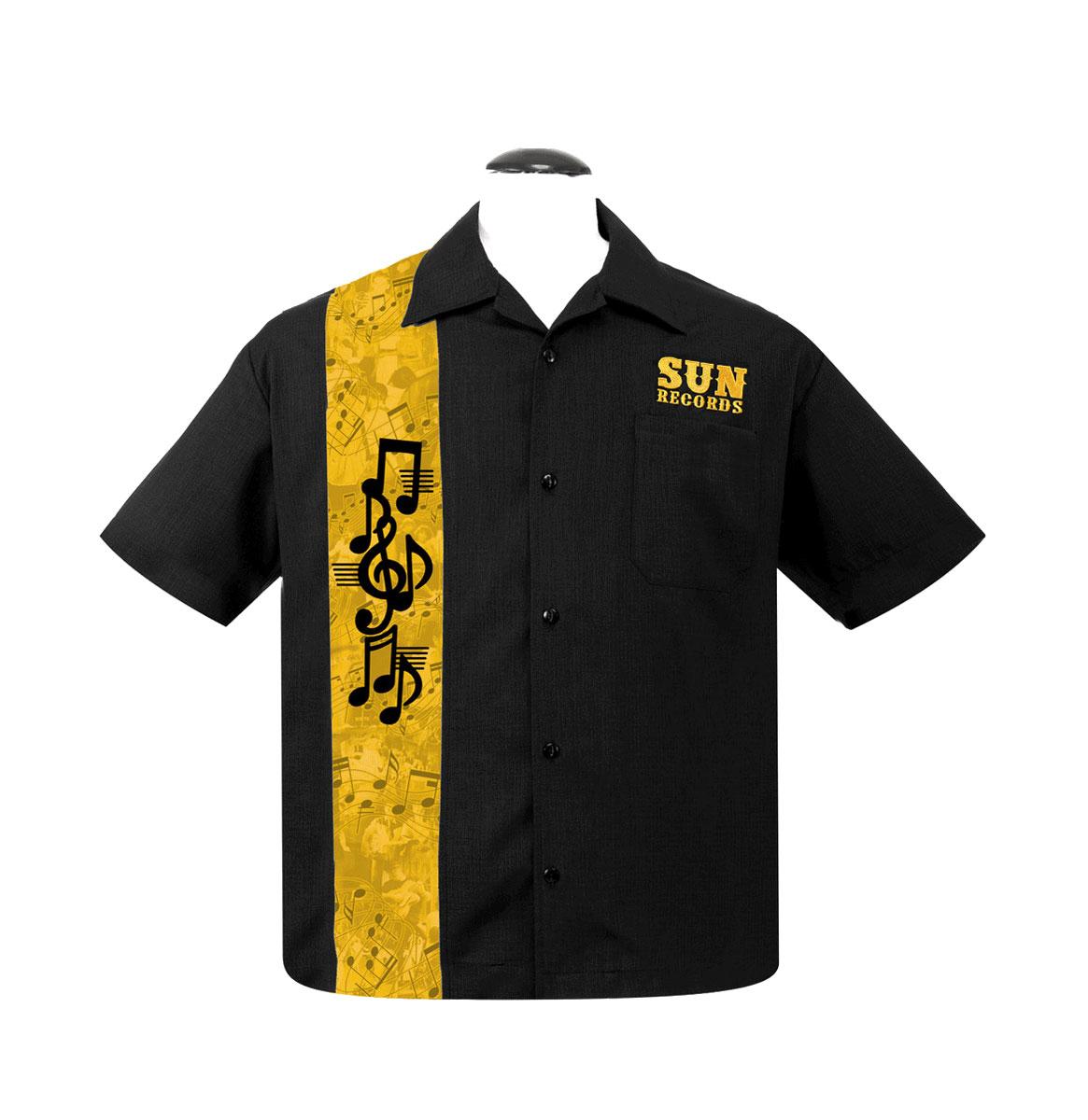 Sun Workshirt Golden Notes Zwart