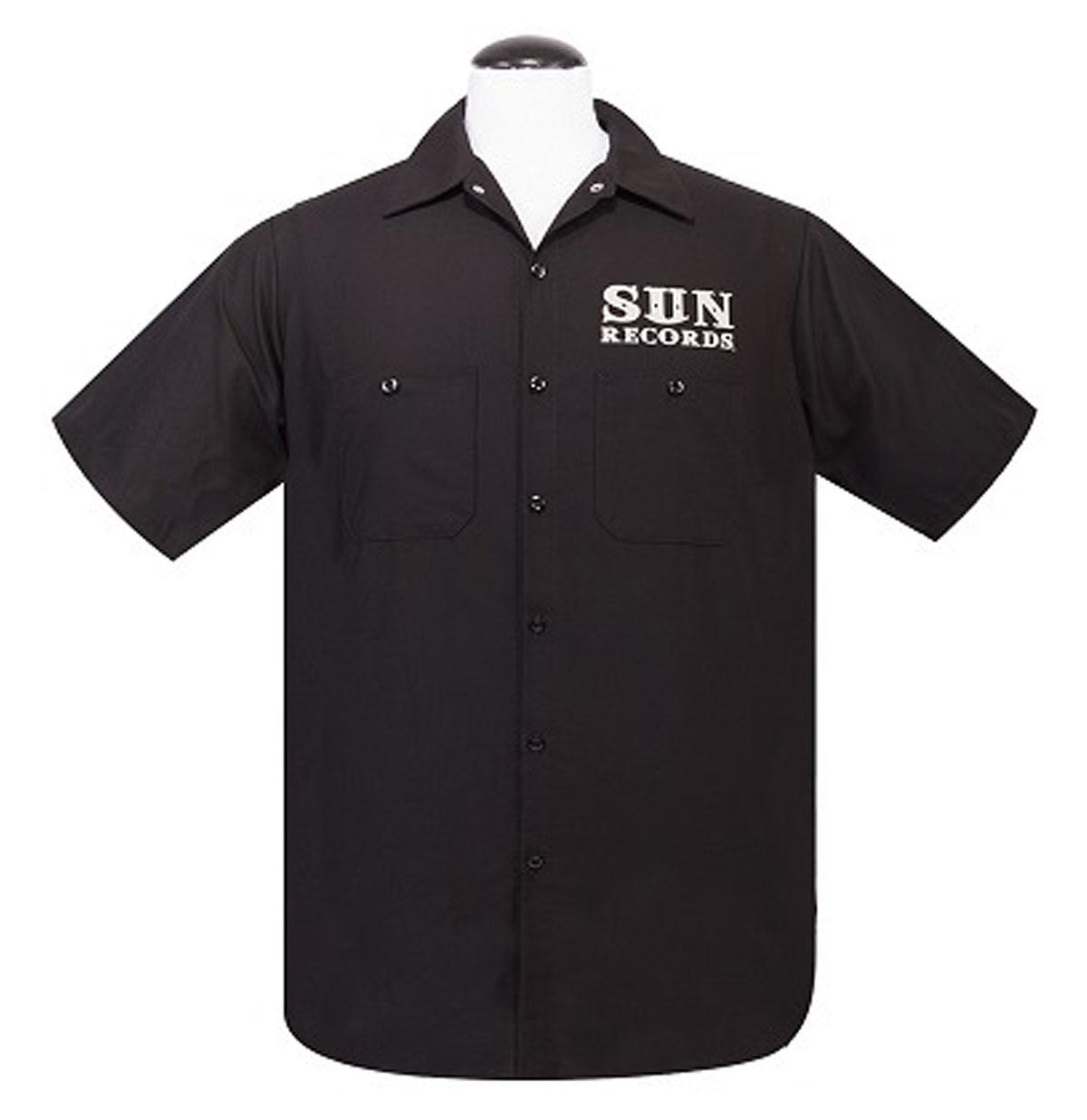 Sun Rockabilly Workshirt Zwart