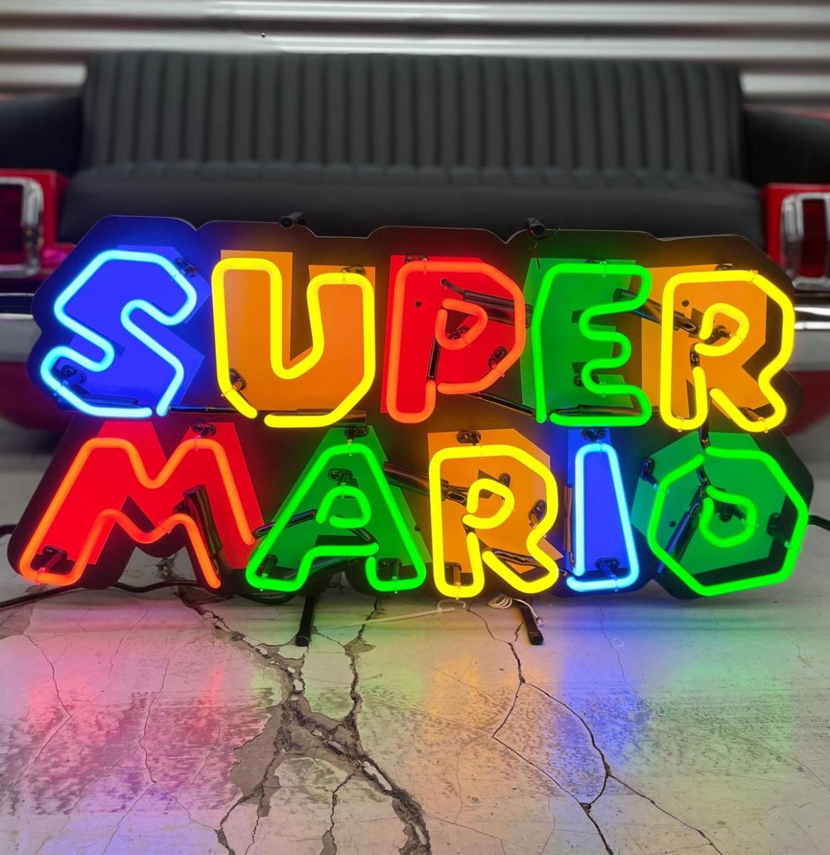 Super Mario Logo Neon Verlichting 80 x 38,5 cm