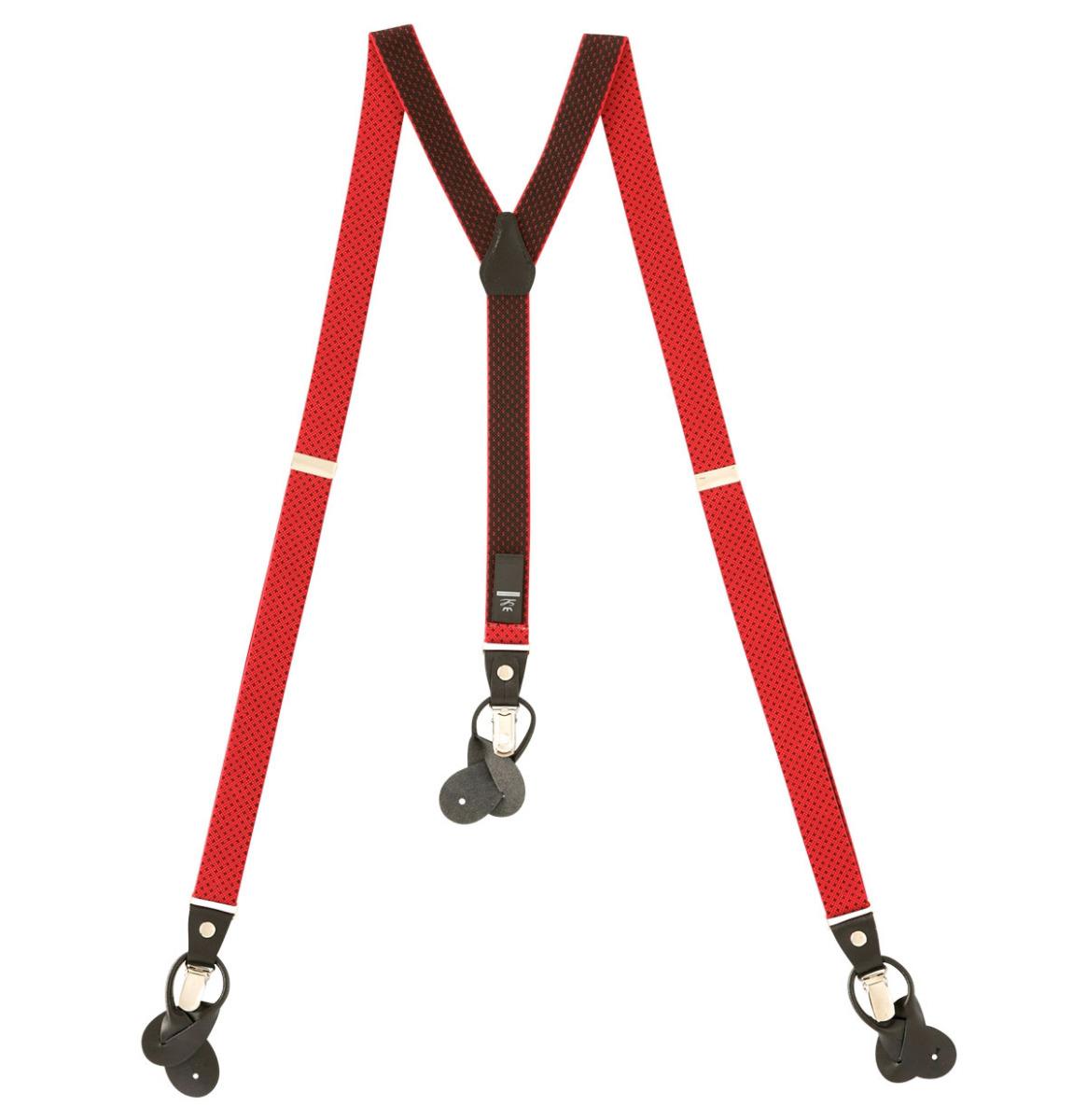 Suspenders Red - Black