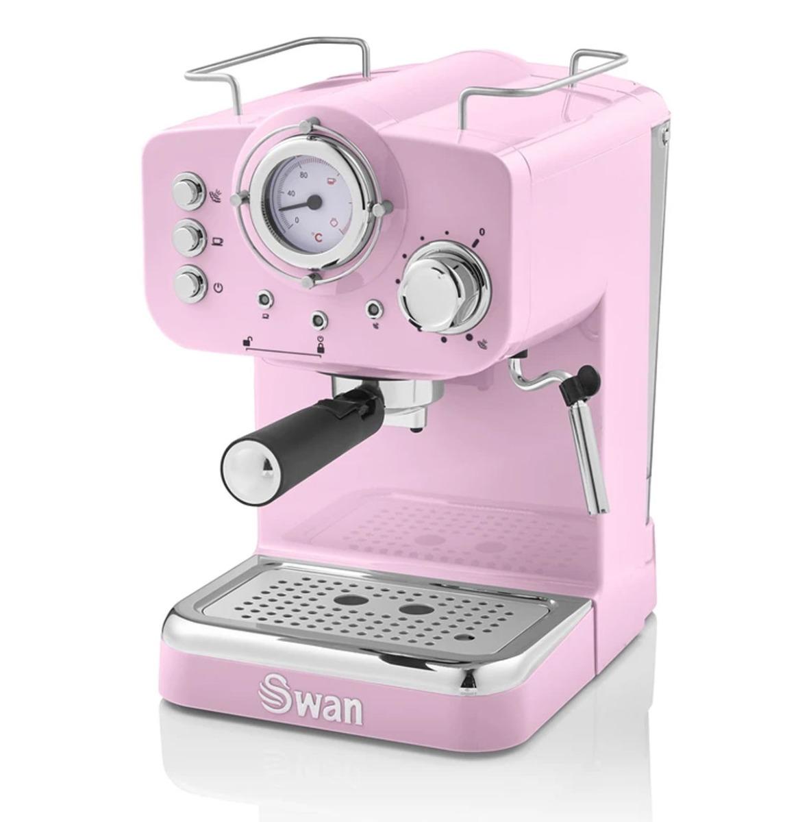 Swan Retro Pump Espresso Koffie Machine - Roze