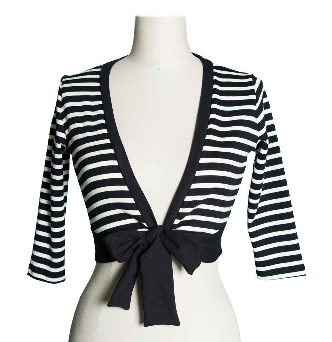 Sweet Sweater Striped Black and White