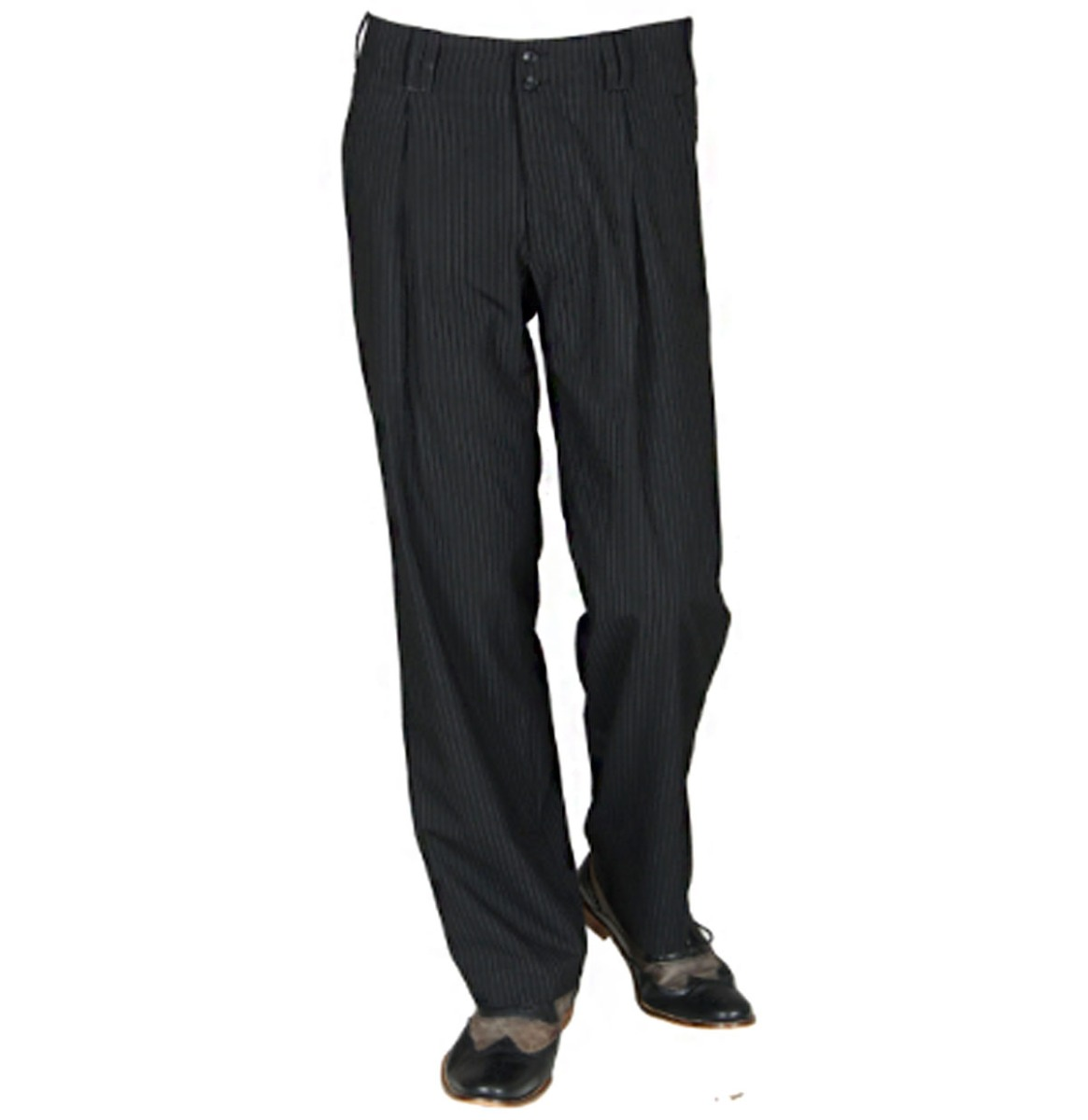 Swing Pants Pinstripe Black / White